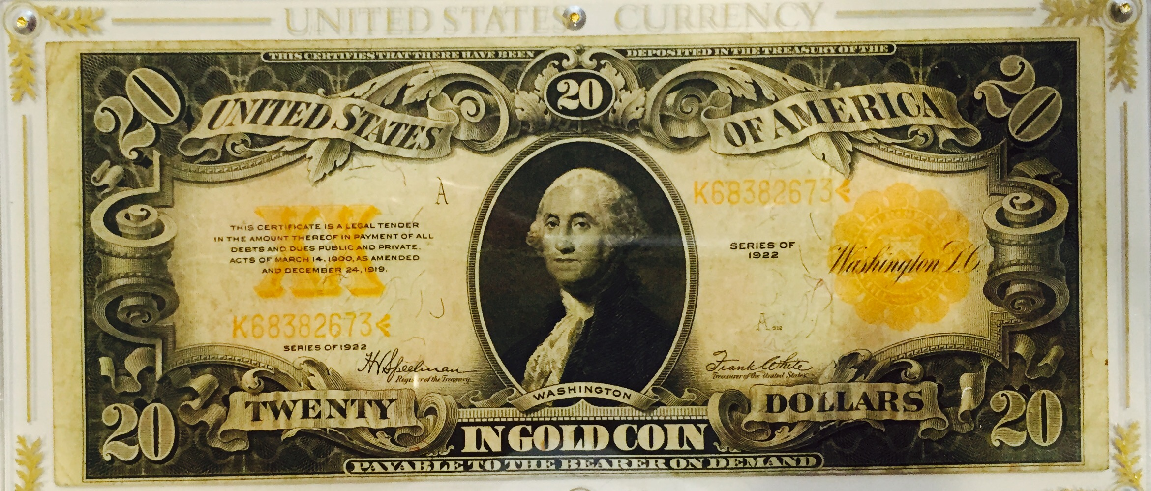 1922 Gold Certificate Dfw Coin Jewelry Center Americas Top
